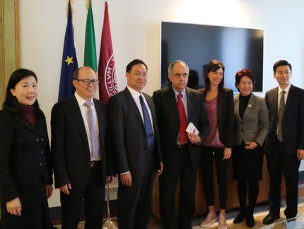 Delegazione cinese in visita all'Università di Macerata