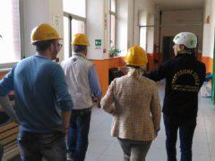 Sopralluogo in una scuola di San Severino