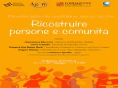 """Iniziativa """"Ricostruire persone e comunità"""""""