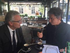 Luca Ceriscioli e Jack Lang a Parigi