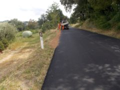 Lavori stradali sulla Falerense