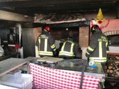 Incendio in una pizzeria di Civitanova