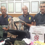 Articoli contraffatti sequestrati all'Hotel House