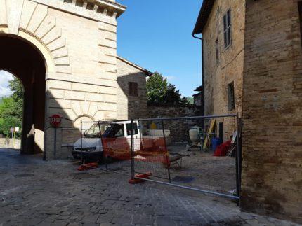 Cantiere Porta Romana a San Severino