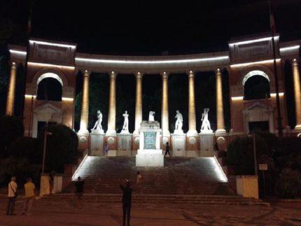 Illuminazione monumento ai caduti di Macerata