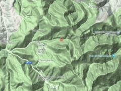 Epicentro della scossa di terremoto
