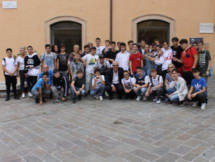 Incontro tra il sindaco di Macerata Carancini e i ragazzi dell'Istituto Bramante Pannaggi