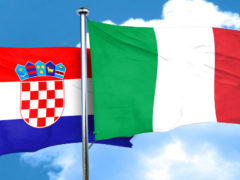 Bandiere di Italia e Croazia