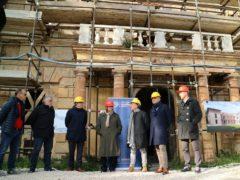 Inizio dei lavori a Villa Lauri
