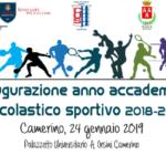 Inaugurazione dell'anno accademico sportivo dell'Università di Camerino