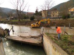 Interventi sulle sponde del fiume Potenza a San Severino