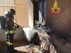 Incendio a Corridonia