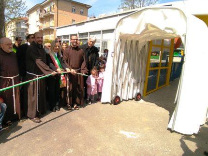 Tunnel scolastico inaugurato a San Severino