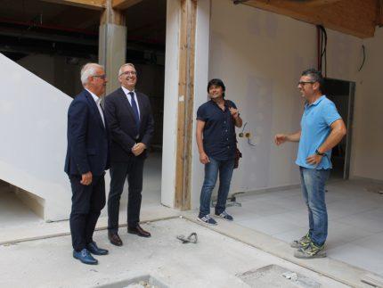 Presidente regionale Ceriscioli in visita a Macerata
