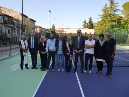 Inaugurazione dei nuovi campi da tennis a San Severino