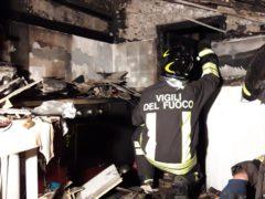 Incendio in un'abitazione di Civitanova Marche
