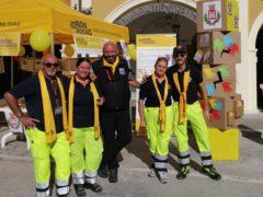 Stand della Protezione Civile a San Severino Marche
