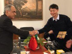 Francesco Adornato e Jia Xinqi