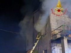Incendio a Cingoli