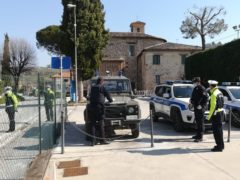 Controlli delle forze dell'ordine a San Severino Marche