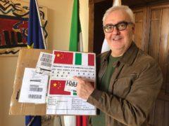 Mascherine donate a Macerata