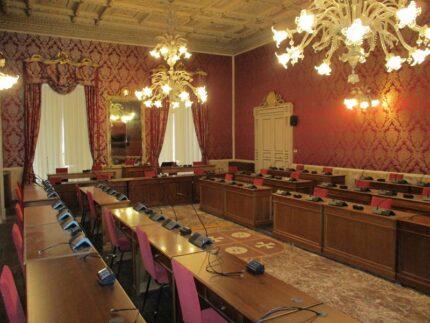 Sala consiliare del Comune di Macerata