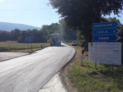"""Lavori stradali sulla Provinciale """"Fiastra-Polverina"""""""