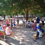 Incontro tra il sindaco di Tolentino Pezzanesi e i bambini dei centri estivi
