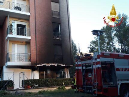 Incendio a Macerata