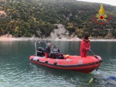 Sommozzatori al lago di Fiastra
