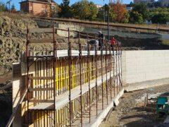 Cantiere del nuovo polo scolastico di Camerino