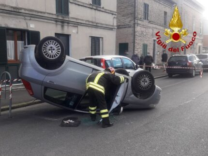Incidente stradale a Sforzacosta