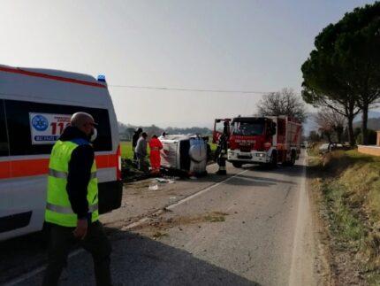Incidente stradale a San Severino Marche