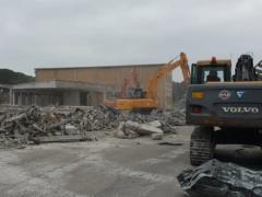 Demolizione del Centro Fiere di Villa Potenza