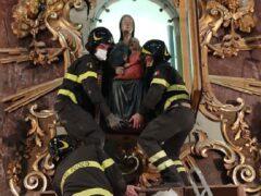 Spostamento della statua della Madonna della Tempesta