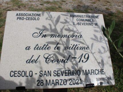 Commemorazione dei morti da Covid a San Severino