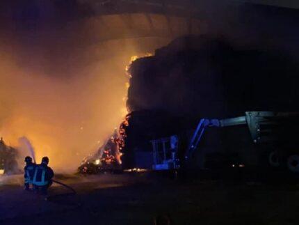 Incendio a Pollenza