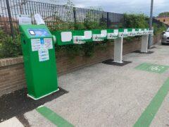 Colonnine per veicoli elettrici installate a San Severino